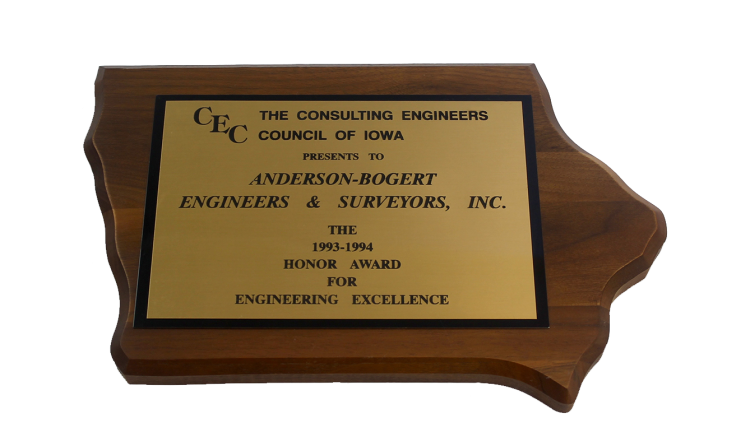 1994 CEC Honor Award for Engineering Excellence