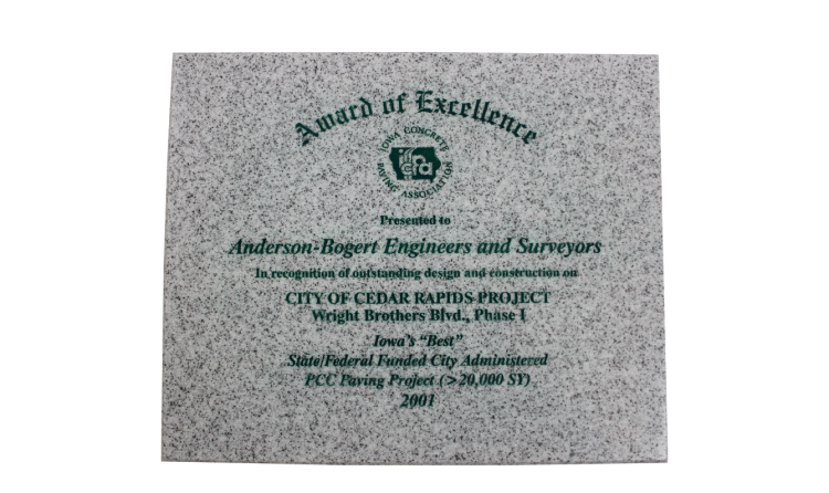2001 Recognition of outstanding design and construction