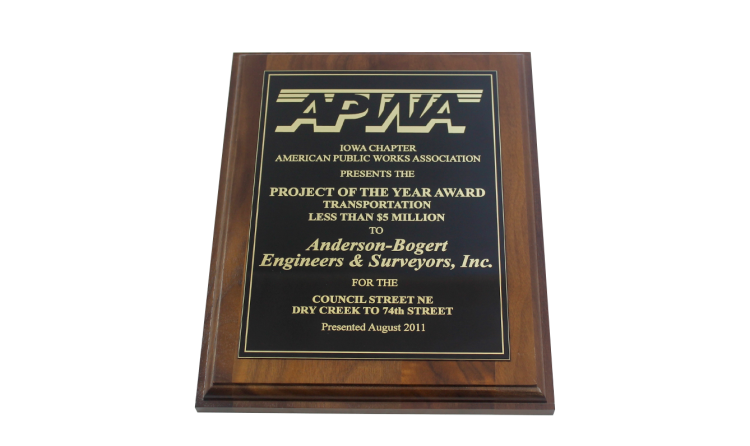 2011 Project of the Year Award