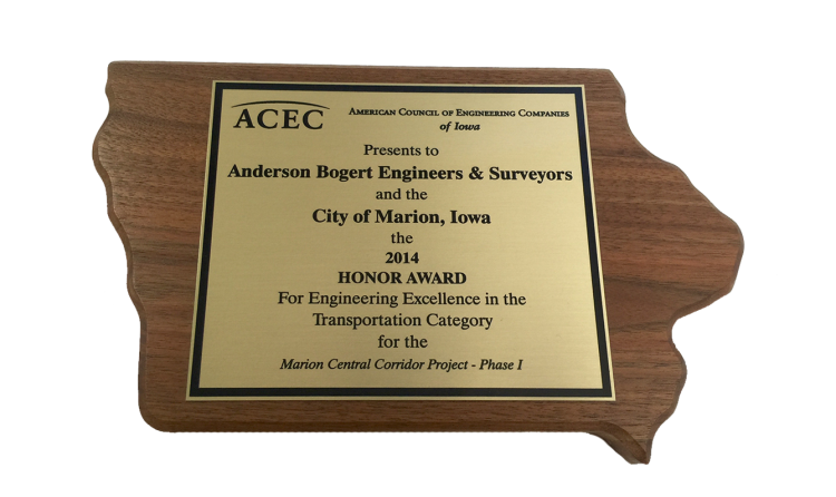 2014 Honor Award for Engineering Excellence in the Transportation Category