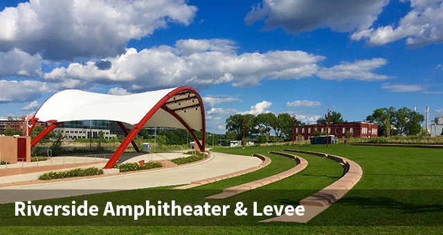 Riverfront Amphitheater and Levee Project w title