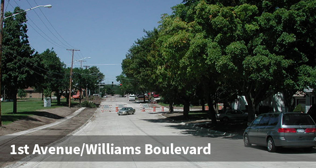 Construction on 1st Avenue Williams Boulevard