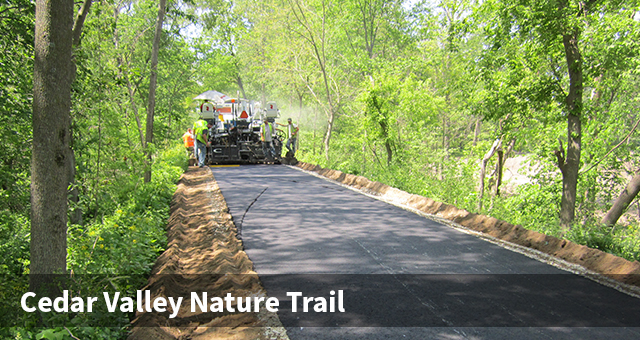 Cedar Valley Nature Trail Paving