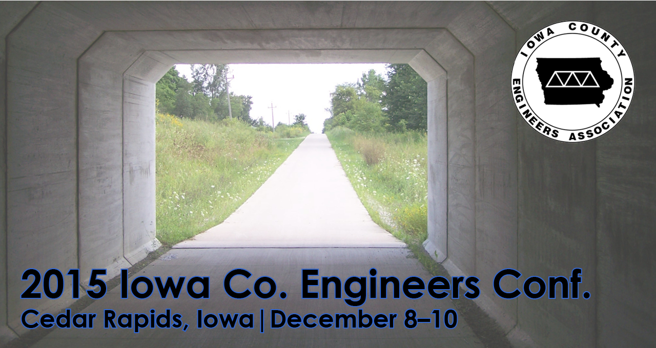 Header advertising the 2015 Iowa County Engineers Conference